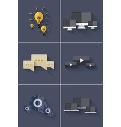 modern backgrounds set vector image vector image