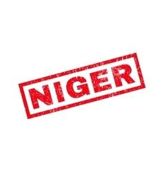 Niger rubber stamp vector