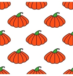 pattern orange pumpkin seamless texture for vector image vector image
