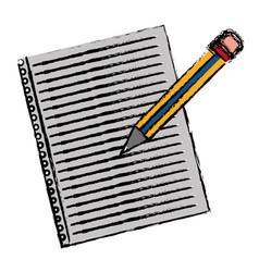 pencil utensil icon vector image vector image