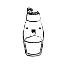 pepper container monochrome blurred kawaii vector image vector image