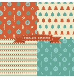 Retro Christmas patterns vector image