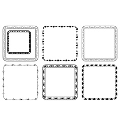 set of square frames for valentine day vector image vector image