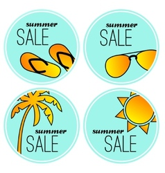 Summer sale stickers vector