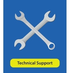 Technical support symbol sign with wrench vector