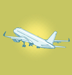 the takeoff of a passenger plane vector image