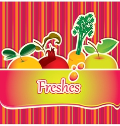 freshes background vector image