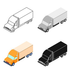 Truck icon in cartoon style isolated on white vector