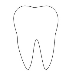 Tooth the black color icon vector
