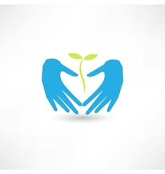 Care plant icon vector