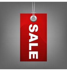 Red price tag SALE vector image