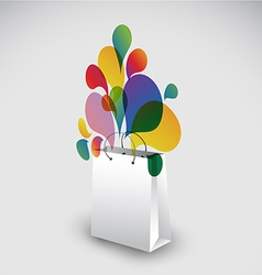 Exploding gift bag - vector image