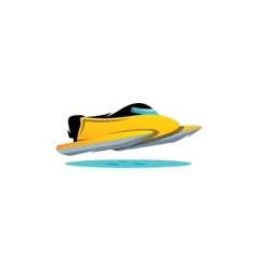 Speed water races speedboat sign water formula 1 vector