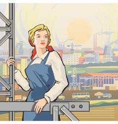 Worker back 2 vector image