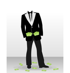 Businessman with dollar vector