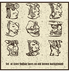 Aztec motif heads background vector