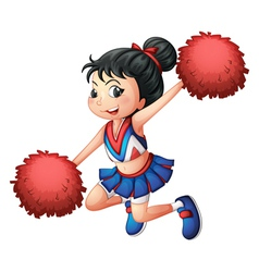 A cheerleader dancing vector image