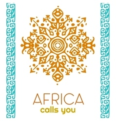 African style circle ornament or mandala vector image vector image