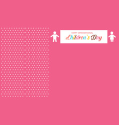 Background style childrens day card vector