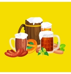 Beer festival Oktoberfest celebrations retro style vector image