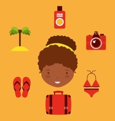Best summer vacation holiday vector