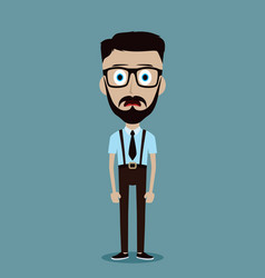 Businessman office guy funny cartoon character vector