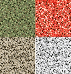 Camouflage pattern set background vector image vector image
