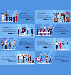 Corporate party set of pics vector