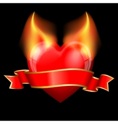 devil heart vector image vector image