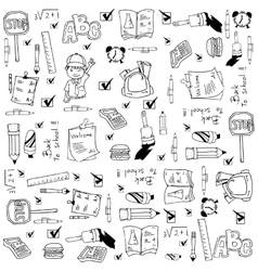 Doodle of school education vector