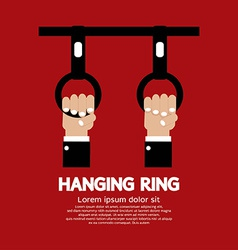 Hanging ring in the public transport vehicles vector