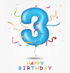 happy birthday celebration greeting card vector image vector image