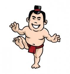 Happy sumo vector