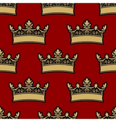 Heraldic crown seamless pattern vector image vector image