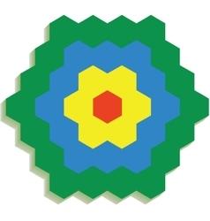 Hexagonal 3d pattern 01 vector image vector image