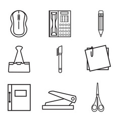 Icons office vector