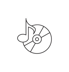 Music icon outline vector image vector image