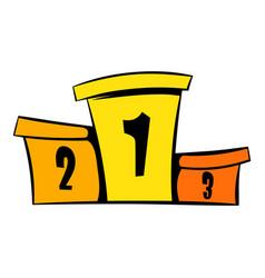 Podium winners icon icon cartoon vector