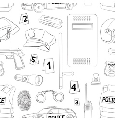 Police Safety concept pattern vector image vector image