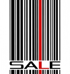 sale and bar code vector image