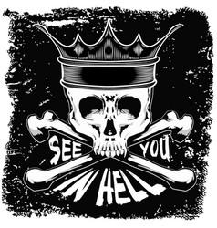 skull t shirt graphic design vector image vector image