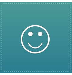 Smile flat icon vector