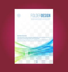 Swoosh speed particle line folder design vector