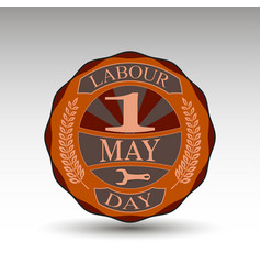 The green badge for labour day vector