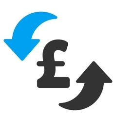 Update pound cost flat icon symbol vector