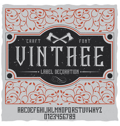 Vintage label decoration poster vector