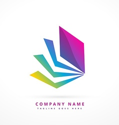Abstract shape colorful logo template design vector