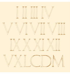 Roman numbers set modern roman classic number vector