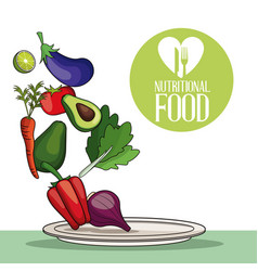 nutritional food delicious vegetable image vector image