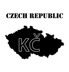 Symbol of czech republic and maps vector